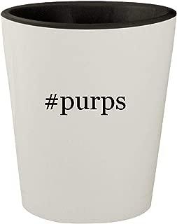 #purps - White Outer & Black Inner Hashtag Ceramic 1.5oz Shot Glass