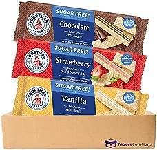 Voortman Sugar Free Wafers Variety Pack   Chocolate, Strawberry, Vanilla   3 Pack