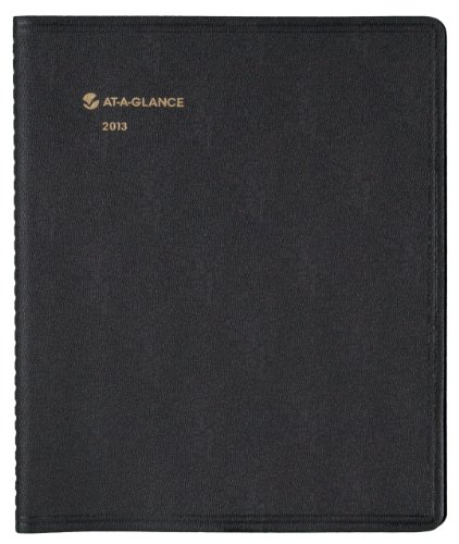 AT-A-GLANCE 2014 Notetaker Monthly Planner, Black, 9.63 x 11.38 x .63 Inches (70-730-05)