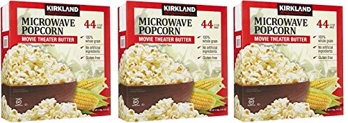 Lowest Price! Kirkland Signature VWHSTK Microwave Popcorn, 3.3 oz, 44 Count, 3 Pack