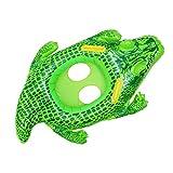LLMLCF Kids Aquatic Float Swim Ring, Cocodrilo Verde Inflable Float Handle Ring Swim Ride-On Piscina Summer Party Beach Juguetes Divertidos para Edades de 3 a 6 años, con Bomba de Aire Manual,A