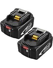 2X 18V 5.0Ah BL1860B Vervangende Batterij voor BL1860 BL1840 BL1840B BL1845 194205-3 194309-1 194204-5 196399-0 196673-6 LXT-400 met Laadindicator Power Tools