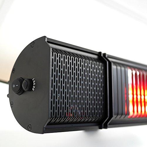 VASNER Appino BEATZZ Infrarotstrahler schwarz, dimmbar 2000 Watt mit Bluetooth, LED Backlight Licht, Musik-Lautsprecher Außenbereich, Ultra Low Glare - 2