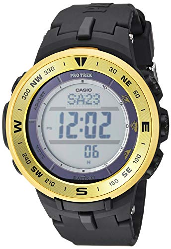 Casio Men's ProTrek Stainless Steel Quartz Watch with Resin Strap, Black, 24 (Model: PRG-330-9ACR)