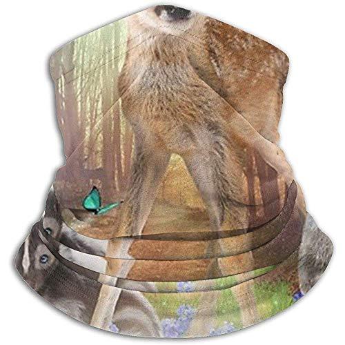 Regan Nehemiah magische woudvrienden Bambi Africa ratel konijn fleece nekbescherming warmer ski gezichtsmasker bivakmuts halfmasker