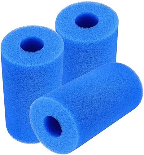 CXYXHW Cartuccia in Spugna per Filtro da Piscina per Intex Tipo A, 3 Pezzi Filtro per Piscina Riutilizzabile e Lavabile Filtro in Spugna per Piscina