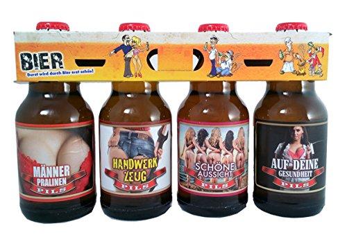 Sexy Bier im 4er Bierschaum-Träger (4x0,33l)