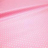 Stoff am Stück Stoff Baumwolle Acryl Punkte klein rosa