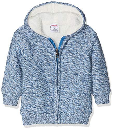 Schnizler Unisex Baby Strickjacke gefüttert Jacke, Blau (Blau 7), 74