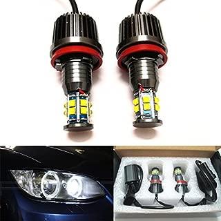 GFJMC Angel Eyes LED Lights Bulbs H8 120W Halo Ring Error Free for BMW E92 E93 E70 E71 F01 F02 F03 F04 E83 E70 E71 E89 3 5 7 Series X5 X6 Z4