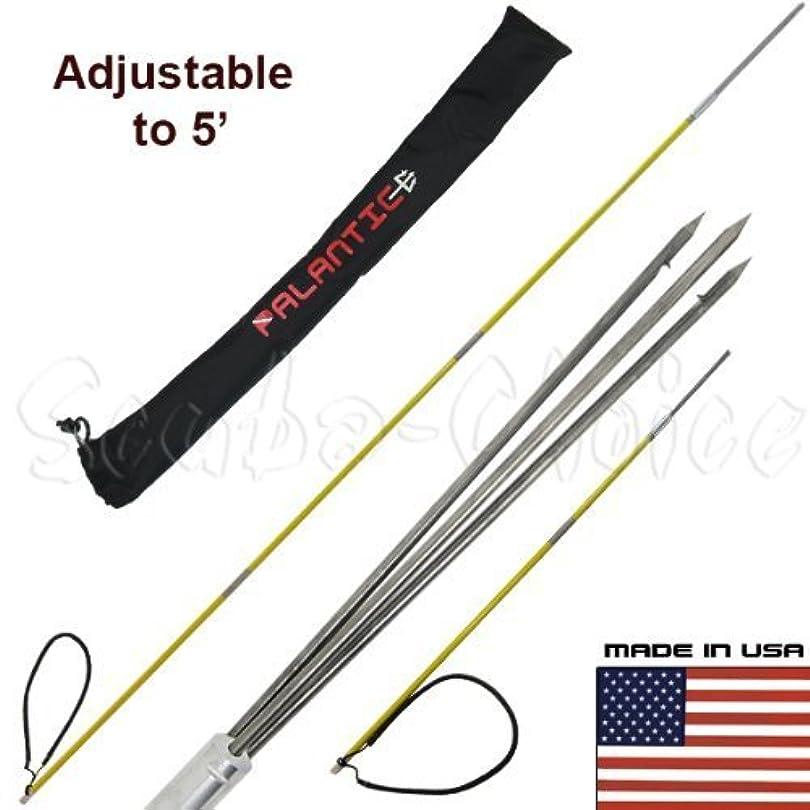 ブロー観点正規化Scuba Choice 7' Travel Spearfishing 3-Piece Pole Spear 3 Prong Barb Paralyzer Tip Adjustable to 5' with Bag by Scuba Choice