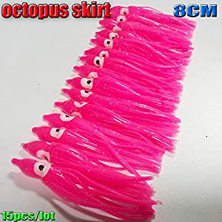 2018NEW Fishing Lure Octopus Skirts Soft Squid Skirts Lure 8CM/10.5CM 16colors Choose :