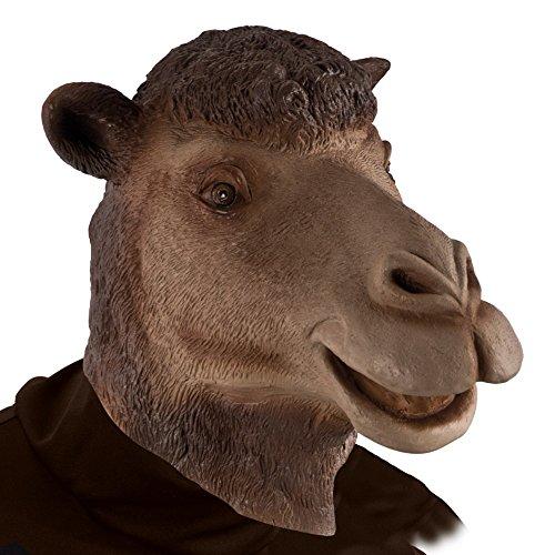 Carnival Toys 1166 - Maske Kamel, Latex, braun