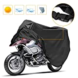 Korostro Funda para Motocicleta, Funda para Moto Cubierta Impermeable Funda Protector 190T, Cubierta de la Moto a Prueba de Polvo Protectora UV Aire Libre Resistente al Agua Cubierta (XL)