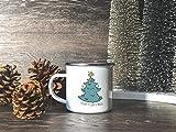 Albero di Natale tazza smalto caffè tazza di Natale personalizzato Natale tazze 10oz Natale tazza vacanza regalo per le donne Secret Santa