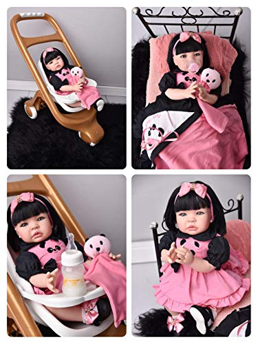 Fada Madrinha Reborn Menina Morena Panda Boneca Bebe Reborn Realista Meu Xamego