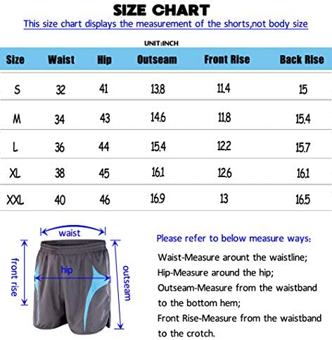 """SNOW DREAMS Running Shorts for Men Active Workout Gym 5"""" Shorts Lightweight with Reflective Stripes"""