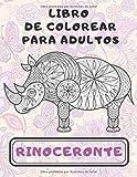 Rinoceronte - Libro de colorear para adultos