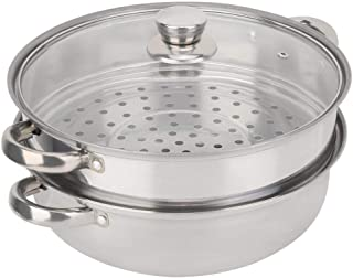 Vapor Pot - Acero Inoxidable 27 Cm / 11 Pulgadas De 2 Capas Vapor Olla A Baño María Sopa De Vapor Pot