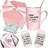 Bosmarlin Birthday Gifts Coffee Mug Set for Her Wife Girlfriend Women,...