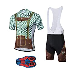 ✪NOTE ON THE SIZE - Bicycle jersey and shorts tag size is Asian size that runs smaller than US standard,please check the size chart for cycling clothes,We recommend one size up to buy, that means if you wear US L please choose Asian XL ✪MENS CYCLING ...