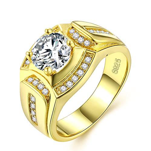 Borong Anillo Oro Hombre joyería Moda Boda