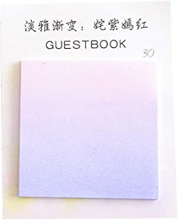 Gradient Color Series Self-Adhesive Memo Pad Sticky Notes Bookmark School Office