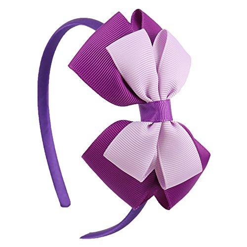 EROSPA® Haar-Reif mit Schleife - Haarschmuck Kinder Mädchen - Violett/Lila