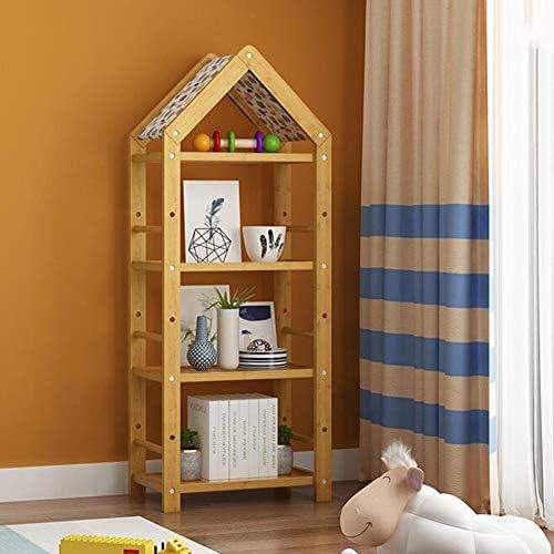 Bücherregale Natürlich Bambus Kind Kinder Lager Spielzeug Buch Gestell 3 Größe Hütte Stil CJC (Größe   51  31  133CM)