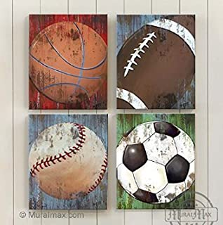MuralMax - Professional Sports - The Canvas Sporting Event Collection - Set of 4 - Size - 20 x 24