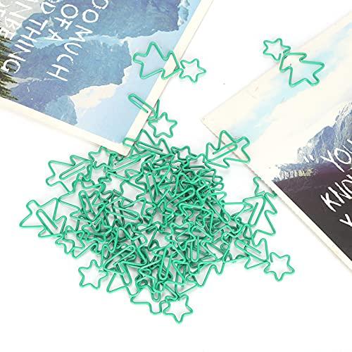 Clips de papel divertidos, clips de marcadores de regalos de Navidad, ligeros y duraderos para la oficina, la escuela y la organización de documentos personales
