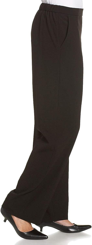 Briggs New York Womens Petite Flat-Front Straight-Leg Pant