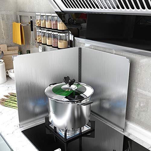 Protector antisalpicaduras para cocina, protector plegable contra salpicaduras de aceite, paneles a prueba de salpicaduras, tablero de aislamiento de aceite resistente (Size : 45 * 50cm)
