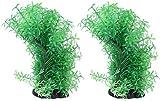 JJDSN 2 Piezas de Adorno de Acuario Deformable simulación Verde pecera decoración Planta árbol Adorno para pecera Acuario hogar jardín