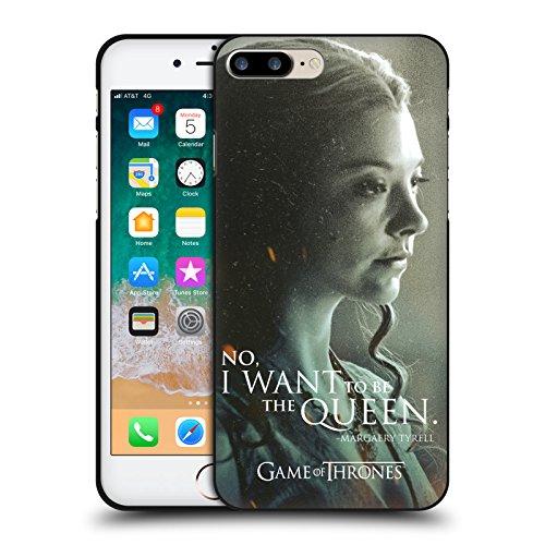 Head Case Designs Oficial HBO Game of Thrones Margaery Tyrell Retratos de Carácter Funda de Gel Negro Compatible con Apple iPhone 7 Plus/iPhone 8 Plus