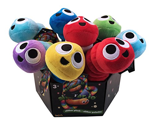 Slither.io 502 Assorted Styles Bendable Plush Toy, 8-Inch