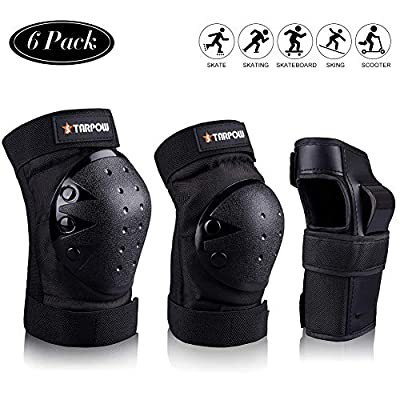 STARPOW Knee Pads for Kids/Adult Elbows Pads Wrist Guards 3 in 1 Protective Gear Set for Skateboarding, Roller Skating, Rollerblading, Snowboarding, Cycling(S/M/L)