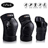 STARPOW Knee Pads for Kids/Adult Elbows Pads Wrist Guards 3 in 1 Protective Gear Set for Skateboarding, Roller...