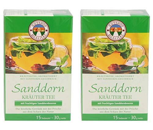 avita Kräuter Sanddorn Tee (15 Teebeutel) 2er