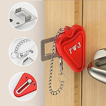 TWJ Security Portable Door Lock Latch