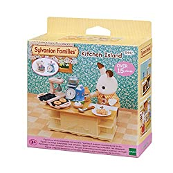 Kitchen Island is a perfect kitchen furniture set with untensils and accessories. Includes kitchen appliances each with their own special features, such as measuring scales that move up and down, a turn-able mixer and a waffle & doughnut maker with e...