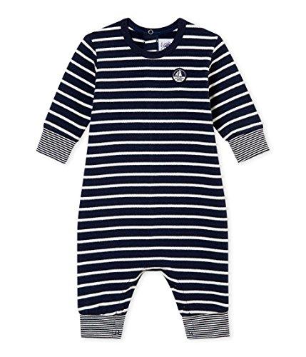 Petit Bateau - Combinaison Longue - Bébé garçon - Multicolore (Smoking/Marshmallow 01) - Taille: 2 ans