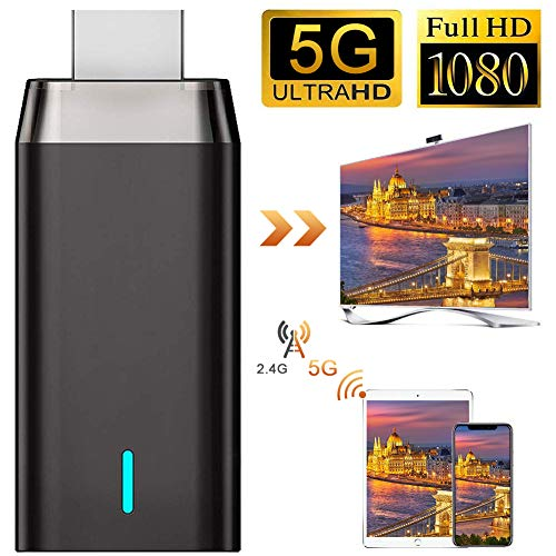 Wireless Display Adapter, LAIDUOAO 4K&Dual Band&1080P Wireless HDMI Adapter Miracast Dongle Streaming Media Player Mirroring Screen from Small to Big Screen, Support 2.4G/5G Miracast Airplay DLNA