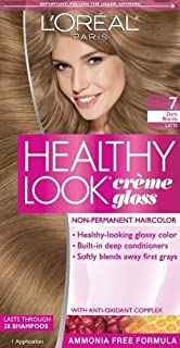 L'Oreal Paris Healthy Look Creme Gloss Color, Dark Blonde/Latte 7 (Pack of 3)