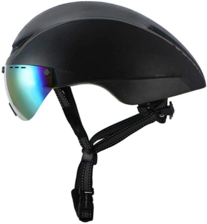 oferta especial LIUDATOU Casco de Ciclismo neumático neumático neumático Gafas de triatlón Tri Aero Casco de Bicicleta con Lente Cocherera de Bicicleta magnética Race Road TT  mejor vendido