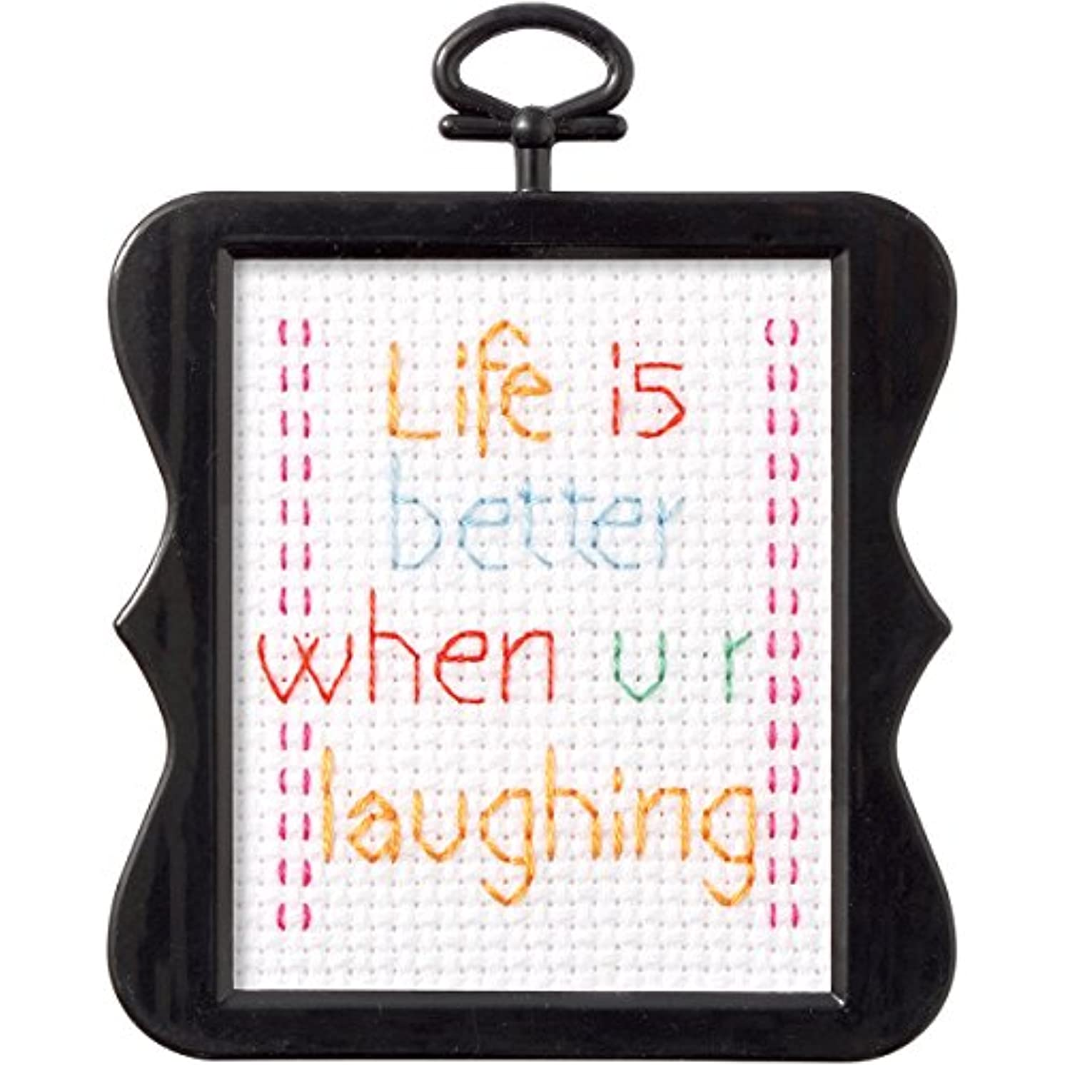 Plaid Bucilla Counted Cross Stitch Kit - 1 Complete Kit - Variety of Designs - Includes Frame (Life is Better)