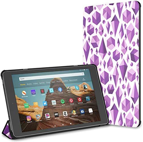 Estuche para Cristales Brillantes y Gemas Fire HD 10 Tablet (9.a / 7.a generación, versión 2019/2017) Fire HD Fire 10 Estuche HD 10 Kindle Fire Estuche Auto Wake/Sleep para Tableta de 10.1 Pulgadas