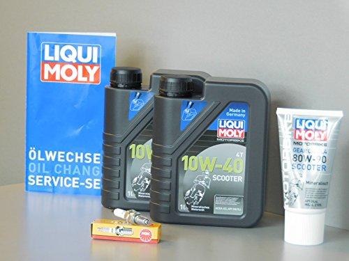 Wartungs Set Daelim S3 125 Inspektion Öl Zündkerze Ölwechsel Service