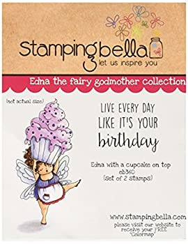Stamping Bella 6.5 X4.5 -Edna with A Cupcake On Top Cling Stamp Stamping Bella