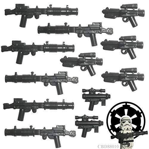 Custom Brick Design 12er Stormtrooper Waffenset Imperiale Armee V.1 | Zubehör für Lego Star Wars Figuren